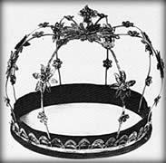 Венчало, које младенци носе на венчању, 19. век. Дар краљице Наталије.